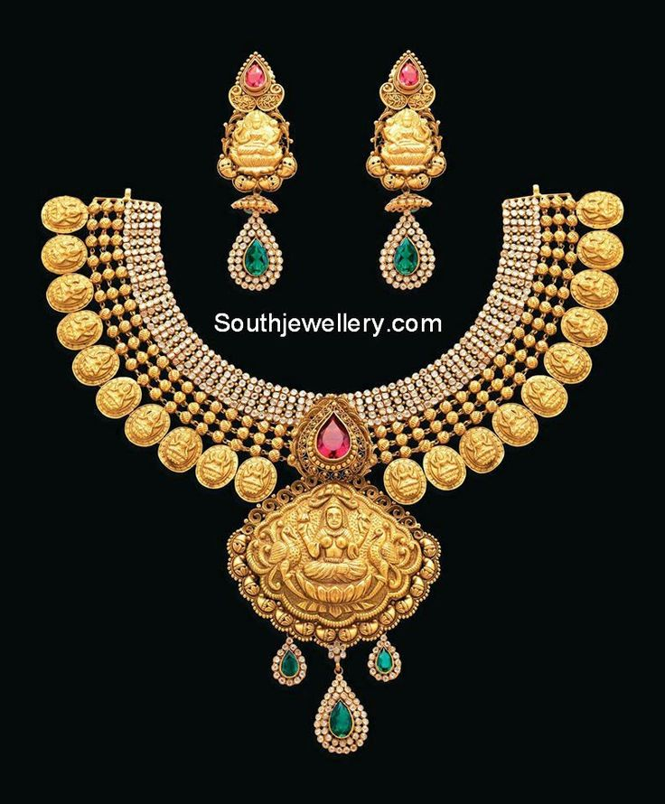 antique lakshmi kasulaperu necklace