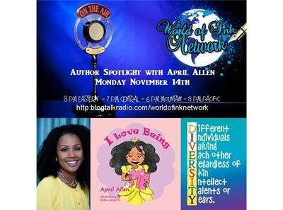 World of Ink Network online radio show Author Spotlight guest Children's Author April Allen. #BlogTalkRadio