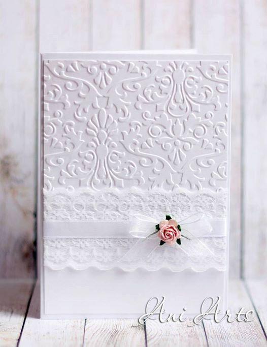 WEDDING Invitation CARD Handmade Unique Elegant Wedding by AniArts