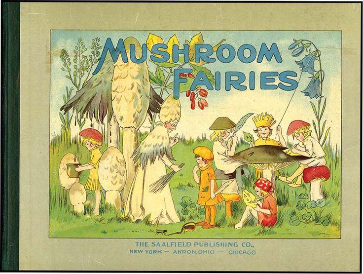 MUSHROOM FAIRIES by Adah Louis Sutton ~ 1910