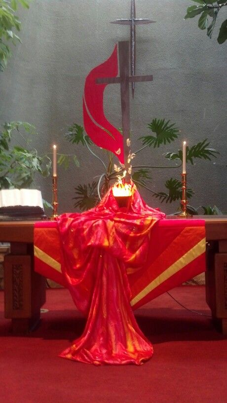 273 best pentecost ideas for worship and celebration for Altar decoration ideas