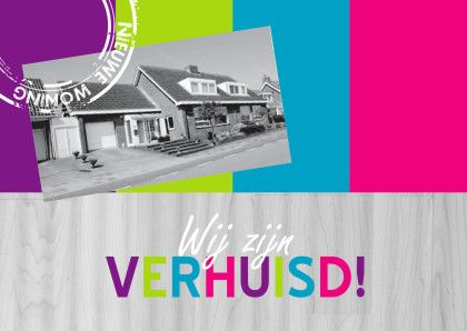 Vrolijke verhuiskaart eigen foto - Verhuiskaarten - Kaartje2go