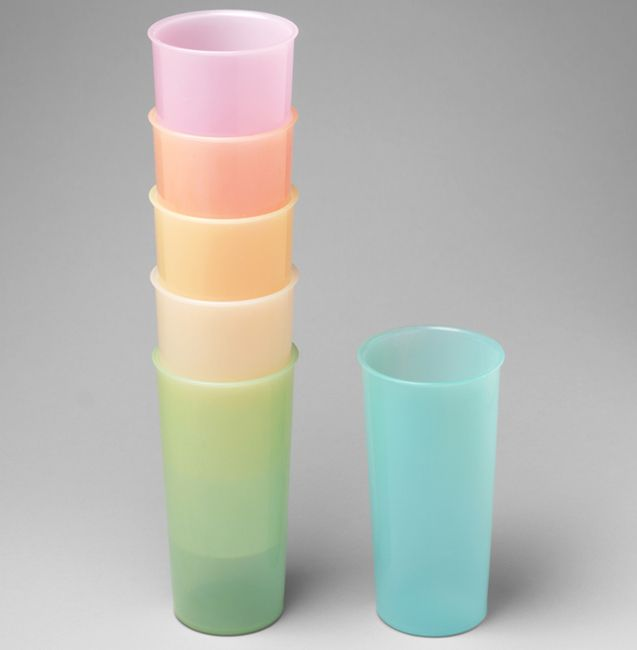 Mom had these Tupperware tumblers