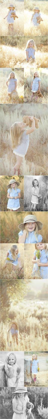 Little girl poses