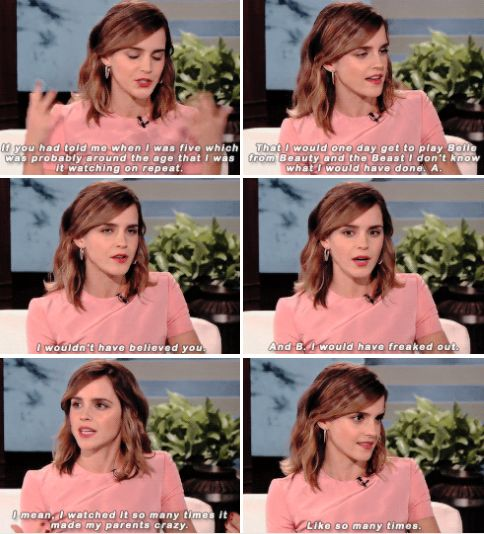 Emma Watson on The Ellen Show (March 3 2017)