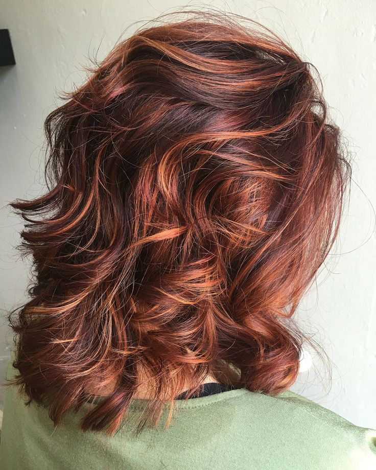 Rv base with copper/orange highlights | Dark auburn hair ...