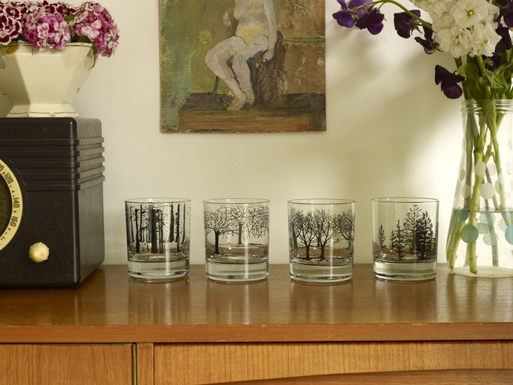Tree Glasses (Black)