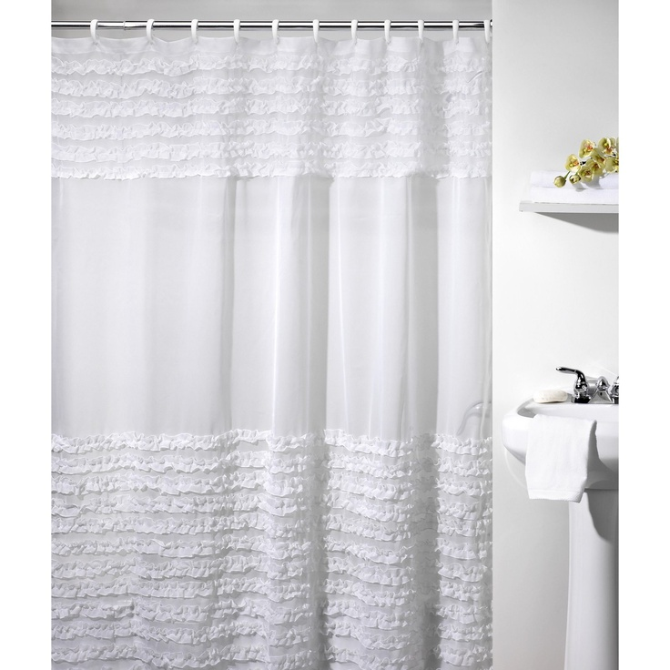 Ruffles Shower Curtain $34.99 - Fabric Shower Curtains at Hayneedle