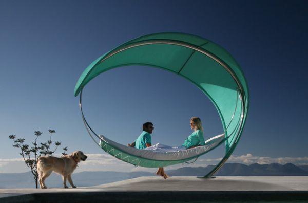 Modern hammock ideas Grün Hund