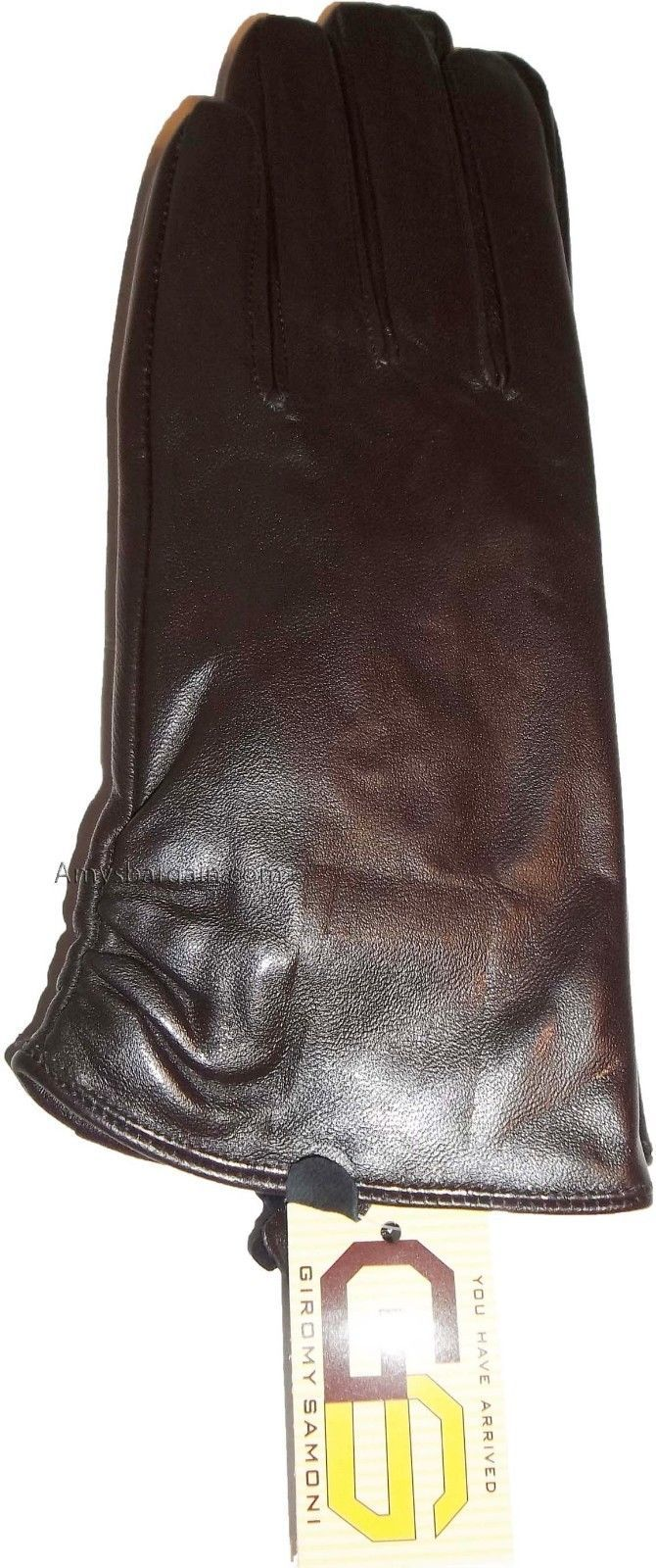 Women's Soft Leather Gloves Warm Brown Winter Gloves Bn Les Gants En Cuir Bn
