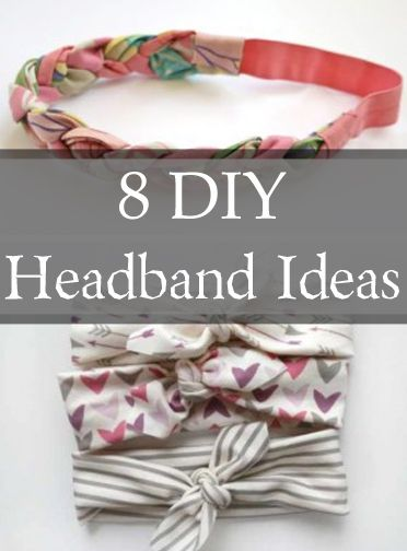 8 DIY Headband Ideas - I LOVE to dress up a messy up-do by accessorizing with a cute headband!!