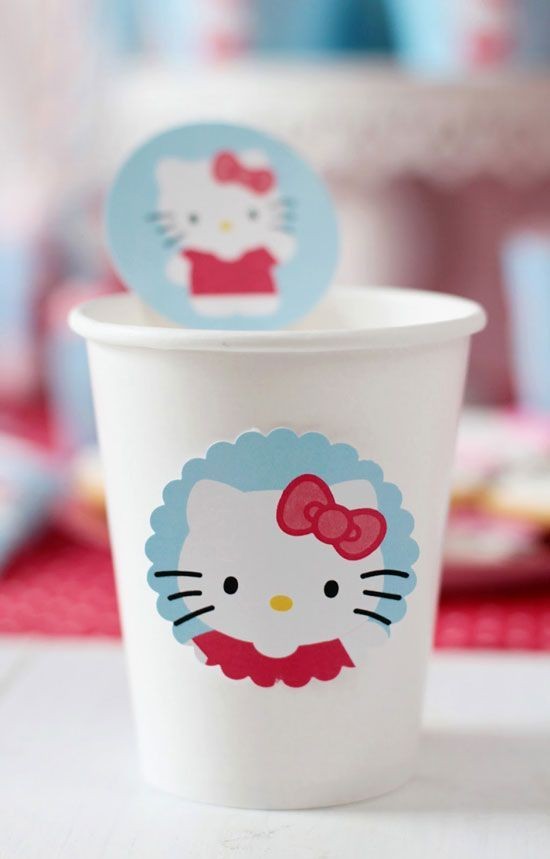 Pegatinas cumpleaños Hello Kitty: