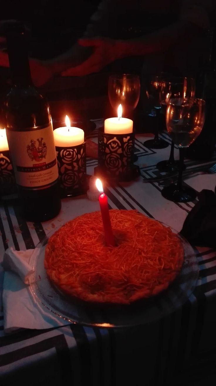 torta di tagliatelle per compleanno da Ettore 23-LUG-2016