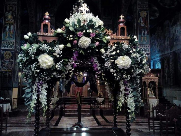 Epitaphios in Saint George in Kozani, Greece