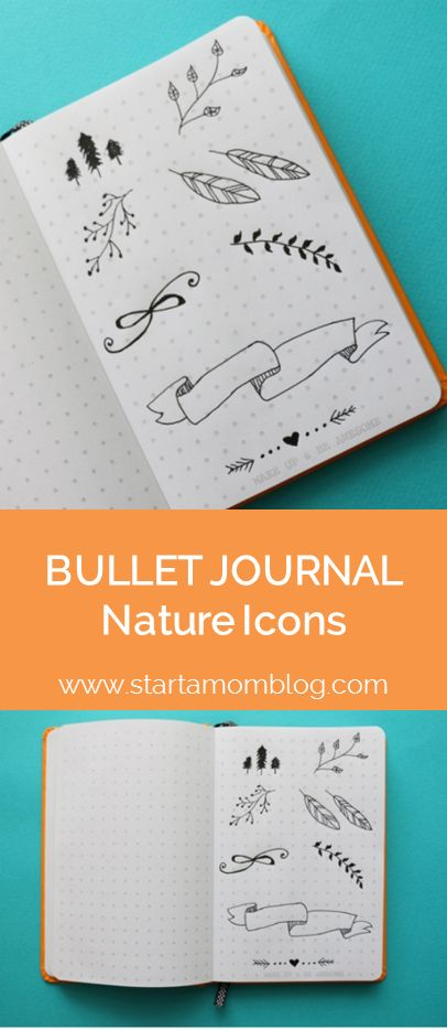 Bullet Journal Ideas Nature Icons