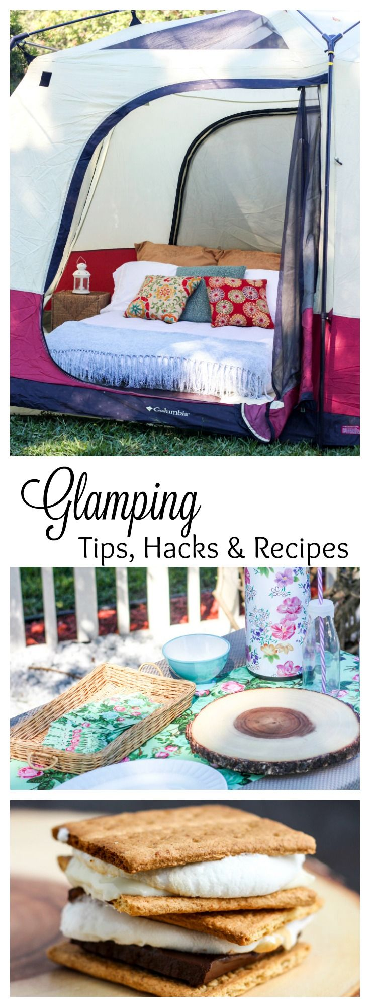 We went glamping last weekend for the first time!  I'm sharing all the best tips…