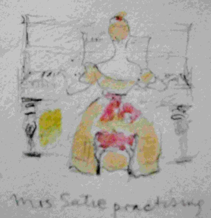 Madam Satie practising [Philip Weaver's sketch book]
