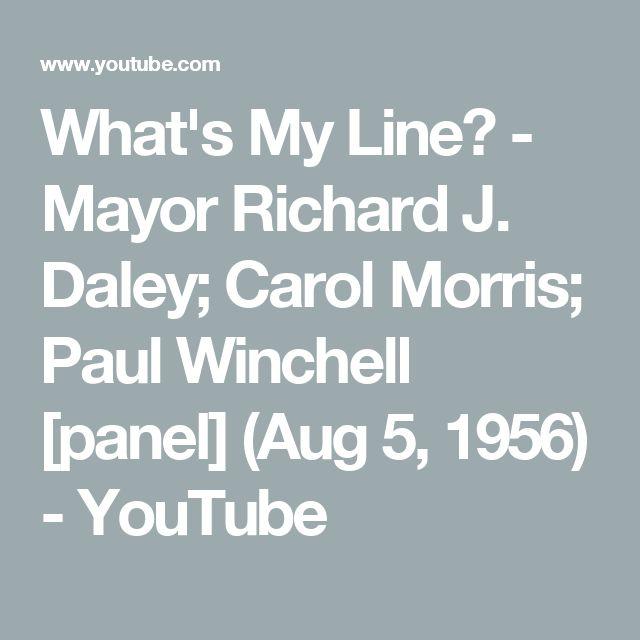 What's My Line? - Mayor Richard J. Daley; Carol Morris; Paul Winchell [panel] (Aug 5, 1956) - YouTube