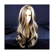 Fabulous Long Wavy BROWN mix Blonde Ladies Wig