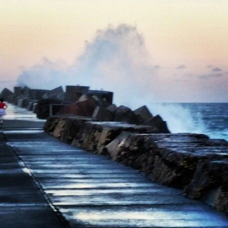 Nobby's breakwall!