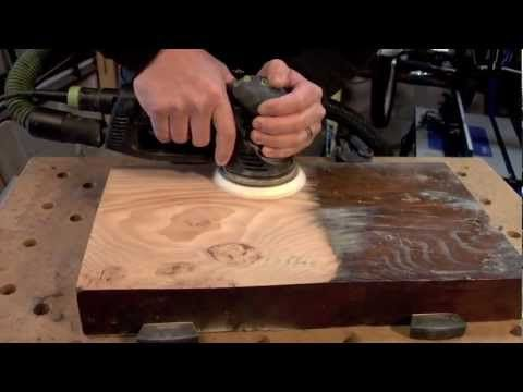 Festool Rotex 125, sanding from rough to a polish finish... - YouTube