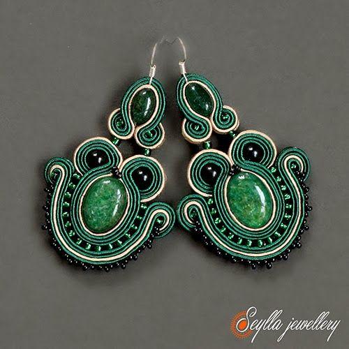Kolczyki sutasz #soutache #jewellery