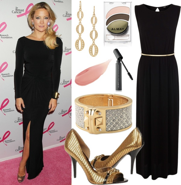 April 17: Kate Hudson hit the pink carpet in NYC at The Breast Cancer  Research Foundation's 2013 Hot Pink Party Benefit Gala wearing a very hot  black dress.
