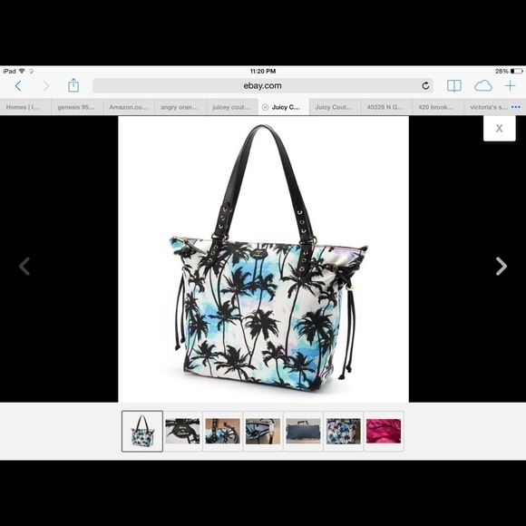 ISO Juicy Couture palm tree tote Looking to buy for my 75 old mom , she loves it .. I bought 1 on another site &  my mom was so happy but the seller never shipped then in my search to find another one that seller I bought from that & ignored me, listed it on a bidding site again I tried to work it out with her but she continues 2 ignore me so please if you have one in like new or new condition & have a good price please let me know .. If you don't want to sell , let's not waste each other's…