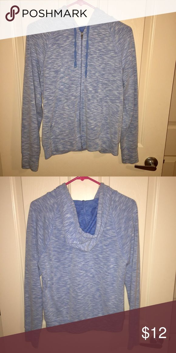 heather blue zip up Fully functioning zipper with hood! Tops Sweatshirts & Hoodies