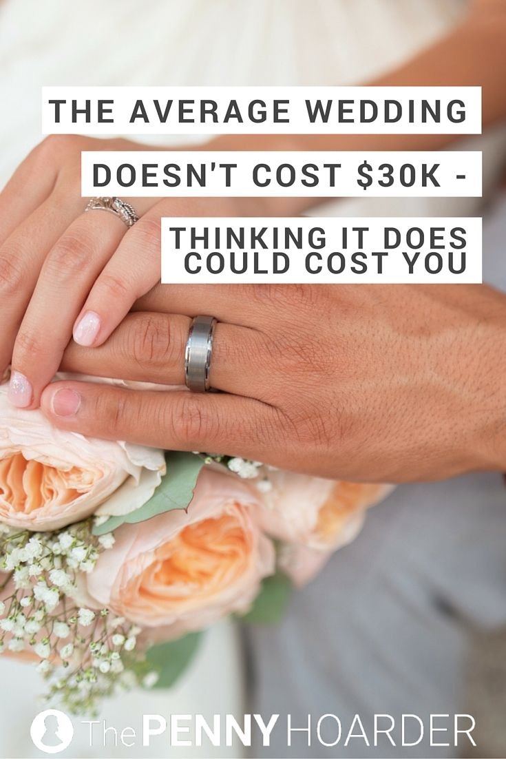 Think the average wedding cost is high? It is -- but it's not as high as you think. Here's why the average wedding doesn't cost $30K… and why it might matter for your wallet. - The Penny Hoarder http://www.thepennyhoarder.com/the-real-average-wedding-cost/
