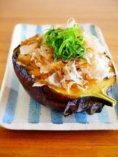 賀茂ナスの丸ごと焼き♪京都の簡単おばんざいレシピ