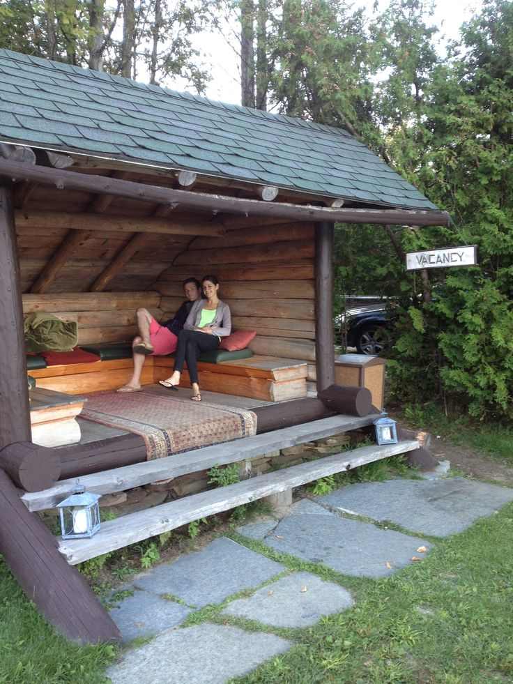 a cozy lean-to at Lake Placid Lodge to snuggle up & enjoy the views