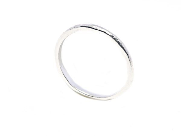 Hammered Ring Silver - 925 sterling silver - HeidisHoff.no