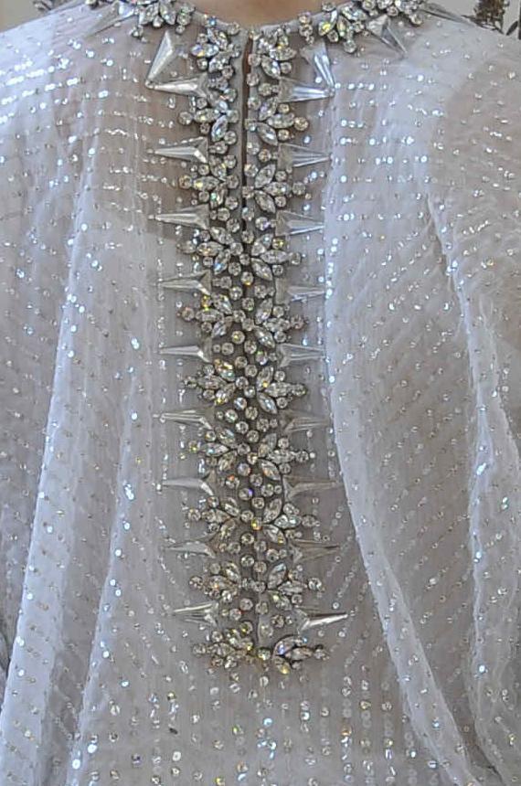 Dress back detail with crystal encrusted spine; embellished fashion details // Givenchy