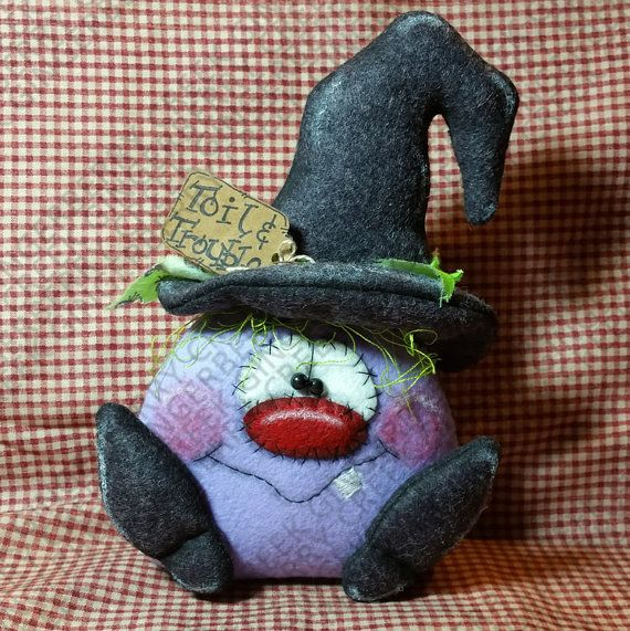 E-Pattern Toil and Trouble Witch Pattern 183 by GingerberryCreek