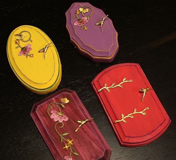 Homemade Fairy doors  - place at bottom of trees ect. . . ~ these are just too cute!