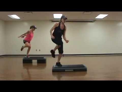 Power Step Aerobics Class! - YouTube