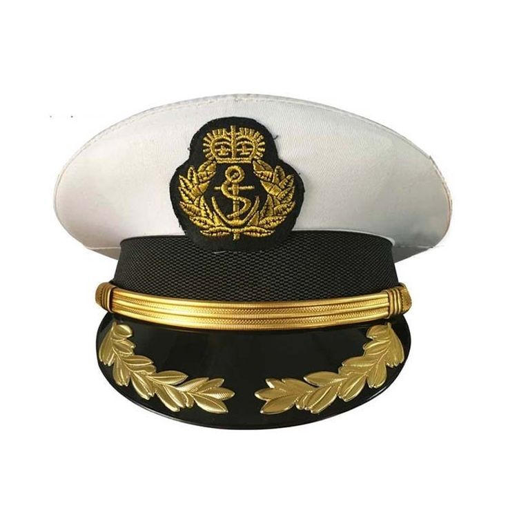 High quality military costume hats navy officer caps adult