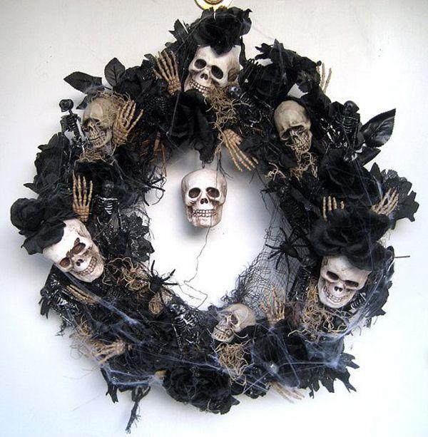 25 Awesome Halloween Wreath Ideas | House Design A…