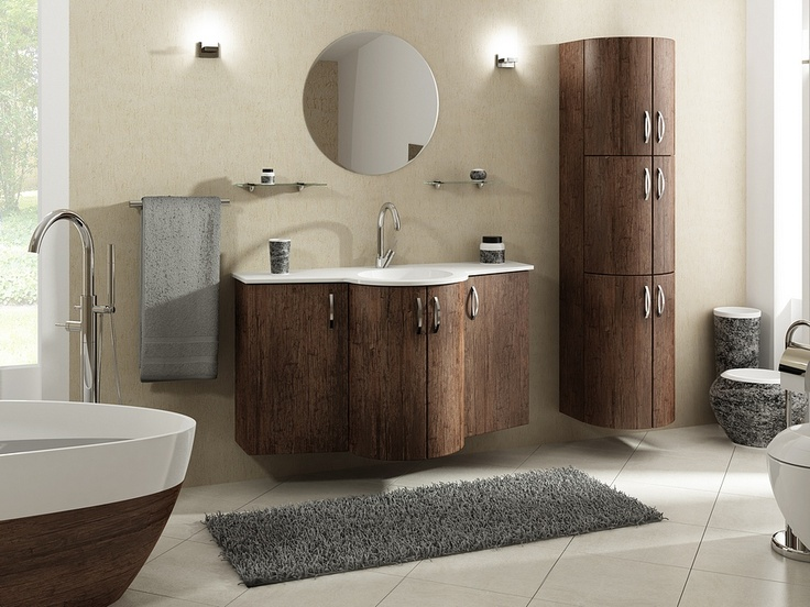 Gaia bathroom furniture - wood pattern  collection / łazienka #bathroom #furniture #wood  #contemporary