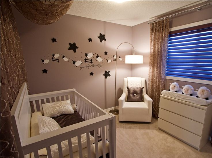 Baby boy nursery room decoration