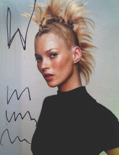 Kate Moss by Mario Testino in a rejected cover for W magazine 2000
