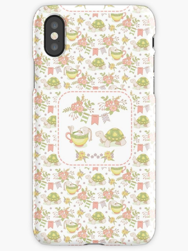 #Hare #Tortoise #Pantone2018 #Fable #Esopo #Kids #Flowers #Floral #Springtime #Pennants #Rabbit #Pastel #Flowery #Fresh #Lovely #Cup #Sleep #Spring #Mia #redbubble #iphone #case