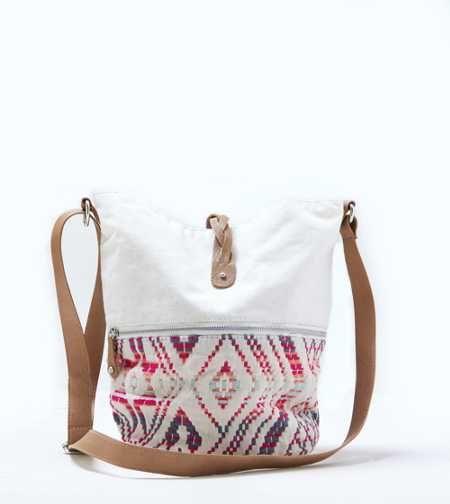 AEO Jaquard Hobo Handbag. Carry on. #AEOSTYLE
