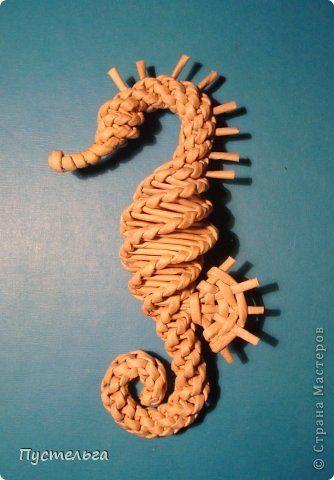 Поделка изделие Плетение Кони мои Трубочки бумажные фото 17