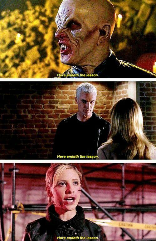 "BTVS ❤️ ""Here endeth the lesson"" The Marster Season 1, Spike Season 5 and Buffy Season 7!"