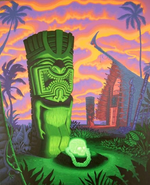 "The Lurid Low-Brow ""Tiki Art"" of Brad Tiki-Shark Parker -- Tiki Central"