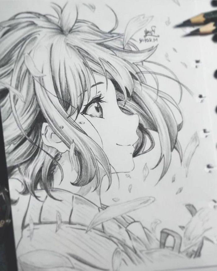 Pencil Sketch Black White How To Draw Anime Characters Anime Drawings Anime Drawings Sketches Anime Sketch