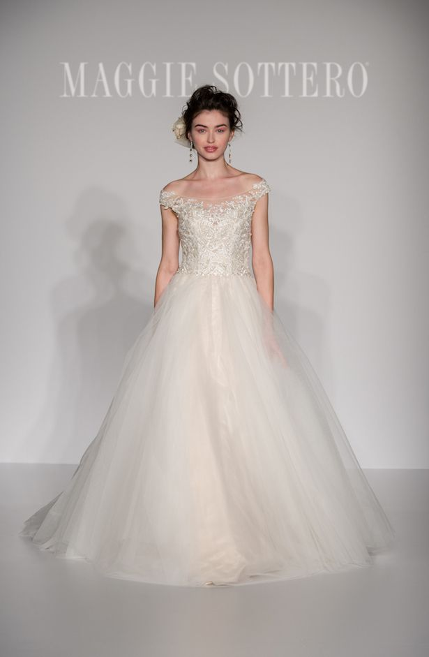 2016 Bridal Trends: Wedding Dresses with Off-the-Shoulder Sleeves - Maggie Sottero 2016 Wedding Dress