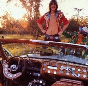 Gram and Nudie with his tricked out caddy!  { junk gypsy co. . . http://gypsyville.com/ }